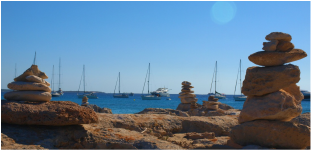 Anchorage in Ses Illetes, Formentera