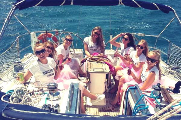 Hen do party by sailing boat