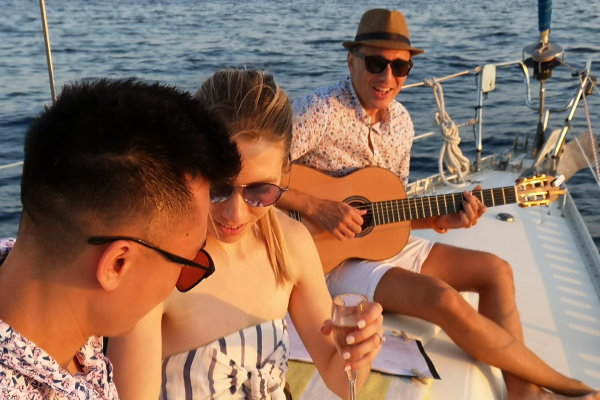 Live music when sailing