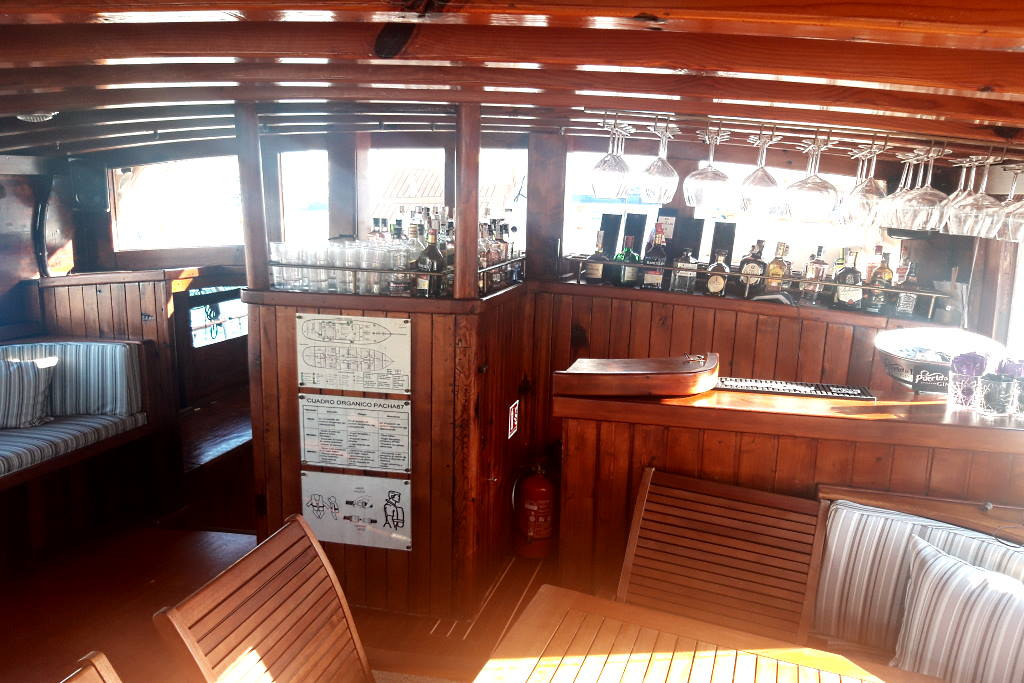 interior of the schooner